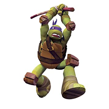 Roommates rmk2252gm teenage mutant ninja turtles don peel and stick giant wall decals