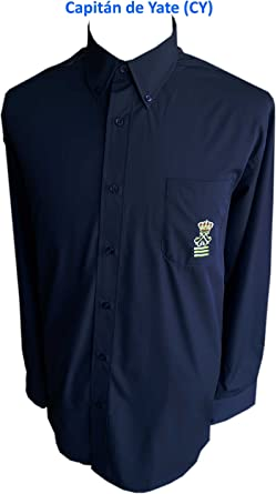 Camisa Náutica Capitán de Yate (CY) (s, Azul Marino): Amazon.es: Ropa y accesorios