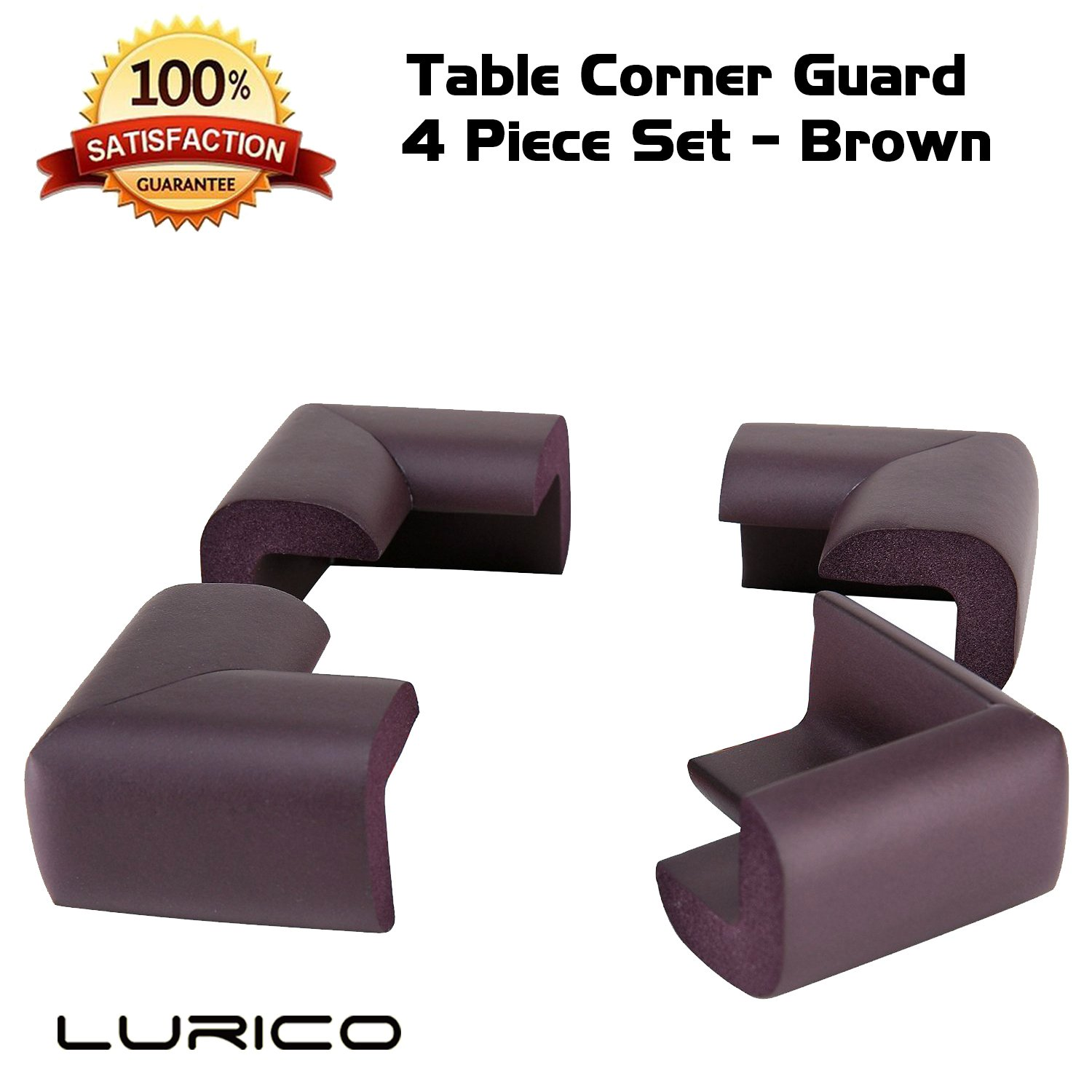 Lurico 4 Pieces Set Corner Guard Home Furniture Safety Bumper Foam Toddler Baby Proof Table