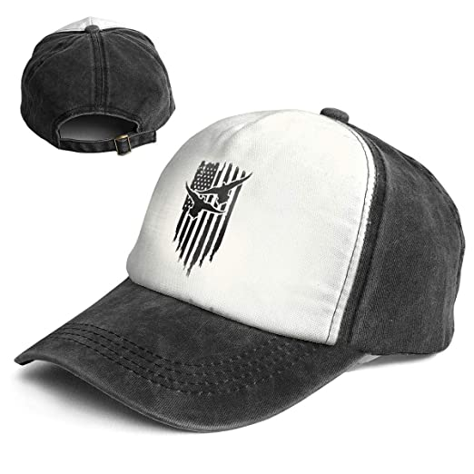 Fashion Vintage Hat Duck Hunting USA Flag Adjustable Dad Hat Baseball Cowboy  Cap Black and White 4570f29fa260