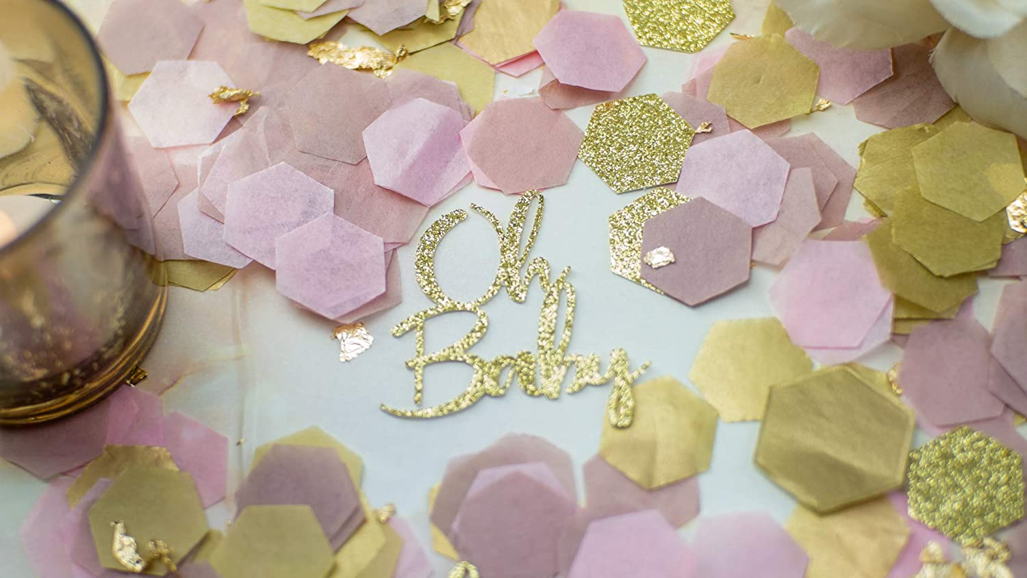 Pink And Gold Baby Shower Table Decorations  from images-na.ssl-images-amazon.com