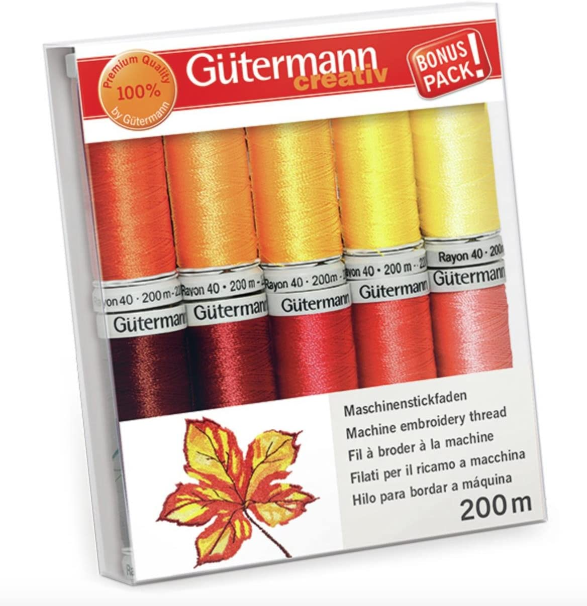 Gutermann roscas 200 m Juego de colores 1