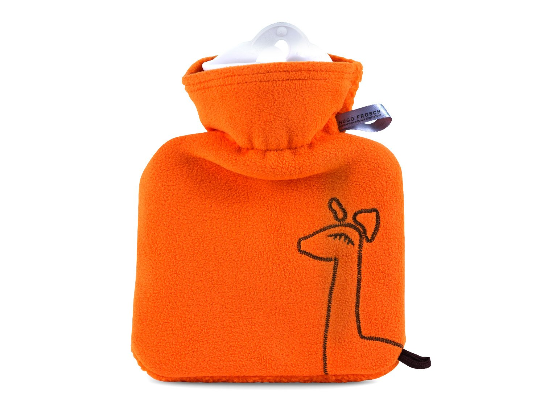 W/ärmflasche Junior 0,6 l orange Giraffe Hugo Frosch