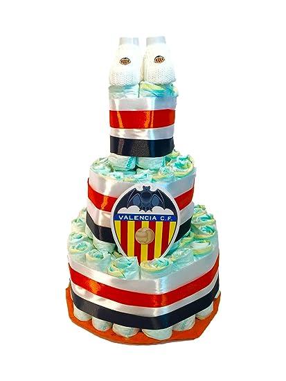Tarta de pañales DODOT Valencia Club de Futbol + patucos ...