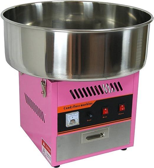 Máquina Algodón De Azúcar profesional, cubeta diámetro 52 cm: Amazon.es: Hogar
