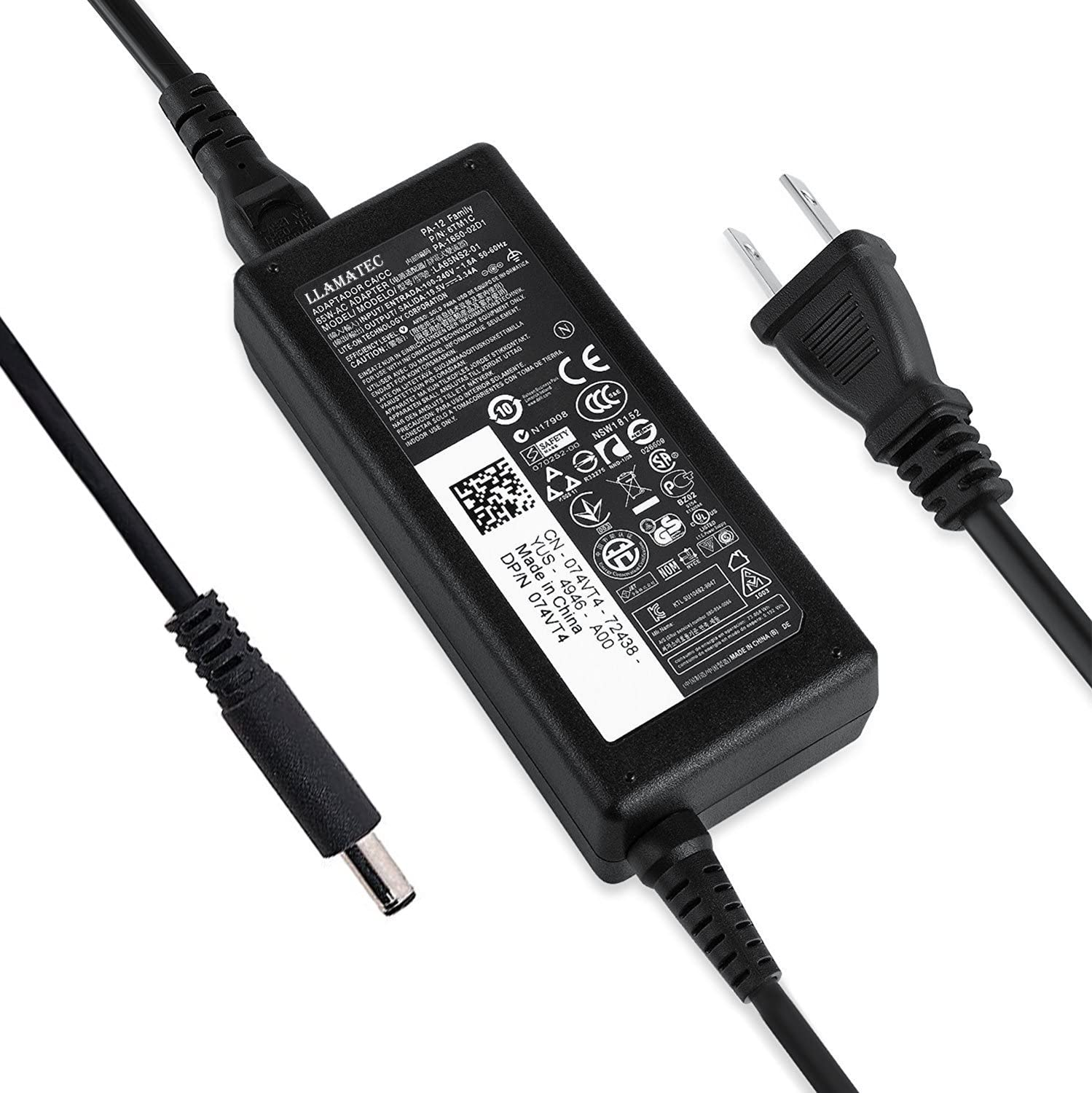 AC Adapter for Dell Inspiron 15 3000 5000 Series 15 3551 3552 3558 5555 5567 5558 5559 5755 5758 7558 7568 7569 7579 Laptop 65W Power Supply Adapter Cord