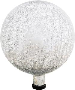 Achla Designs G12-S-C Gazing, Silver 12 inch Glass Garden Globe Ball Sphere, 12