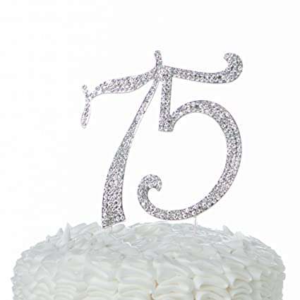 Image Unavailable Not Available For Color Ella Celebration 75 Cake Topper 75th Birthday