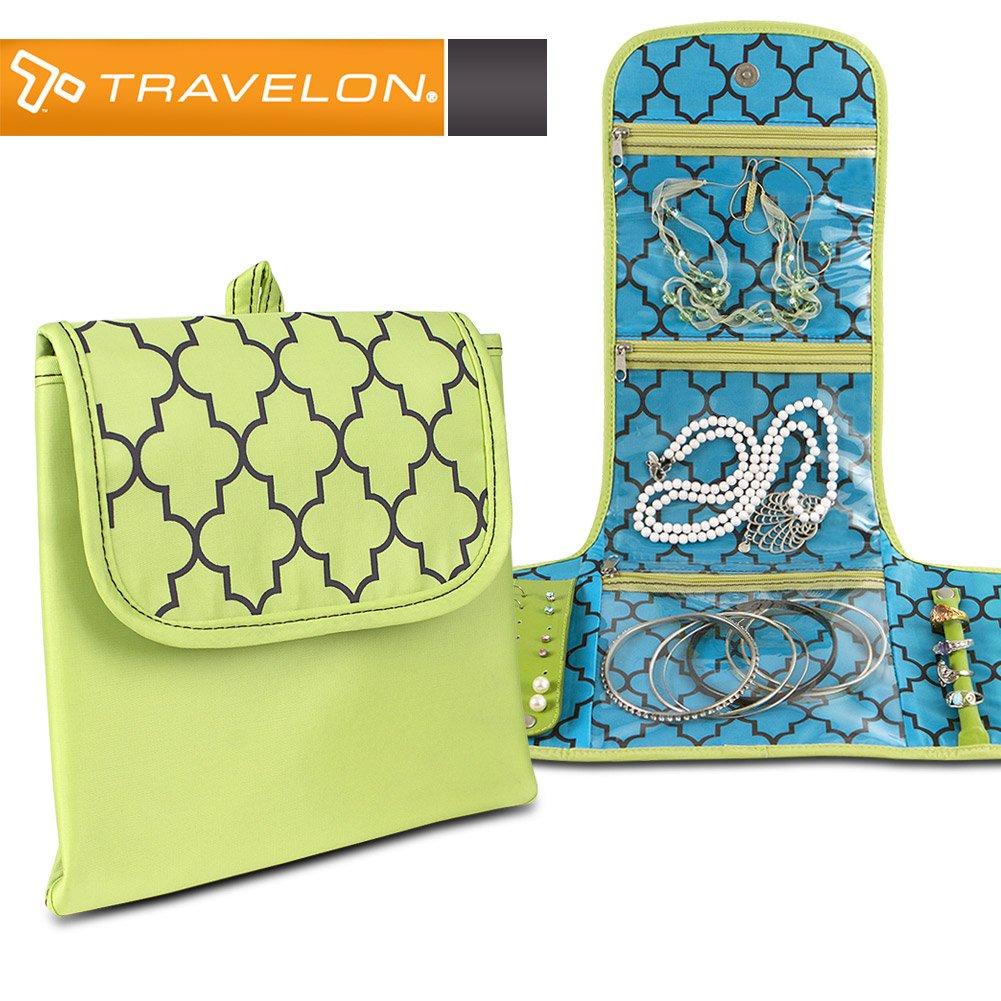 Travelon Folding Jewelry Organizer, Moroccan Print (Green/Blue)