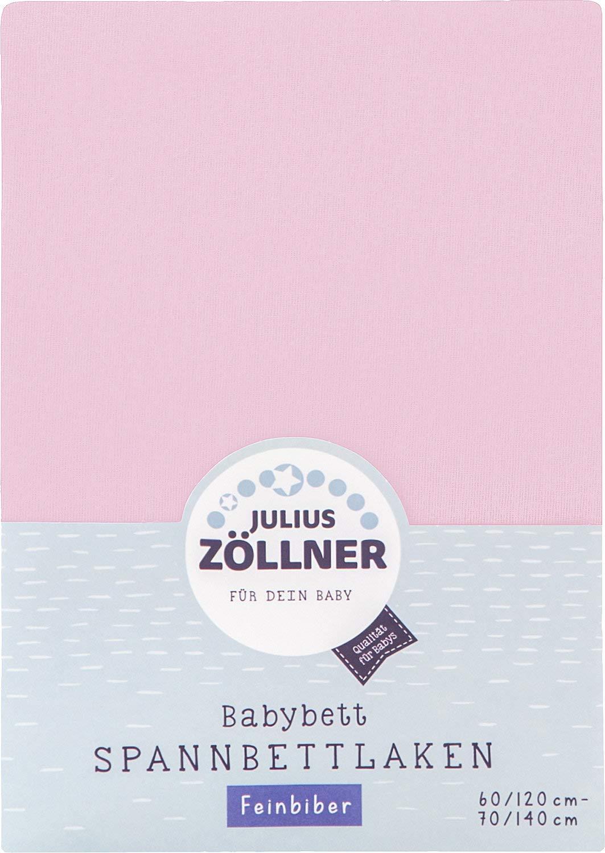 Julius Zöllner Spannbettlaken Biber rosa Größe 60x120 cm - 70x140 cm