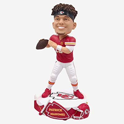 Forever Collectibles Kansas City Chiefs Patrick Mahomes #15 Drum Base NFL Resin Bobblehead: Toys & Games