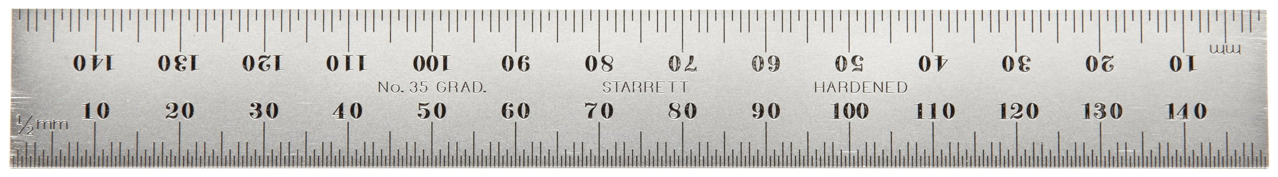 Starrett CB150-35 Millimeter Blade For Combination Squares, Sets And Bevel Protractors, Satin Chrome Finish, 19mm Width, 2mm Thickness, 150mm Size
