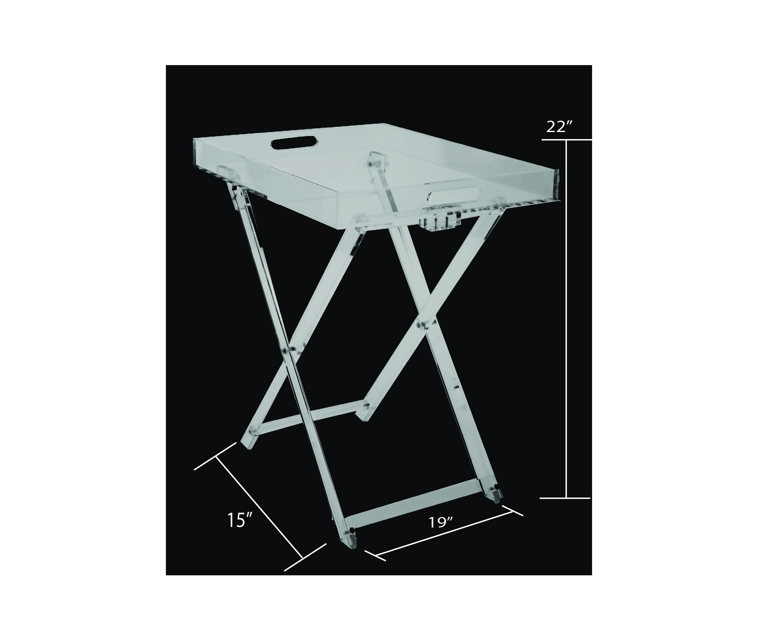 Acrylic Decor Fordable Tray Table