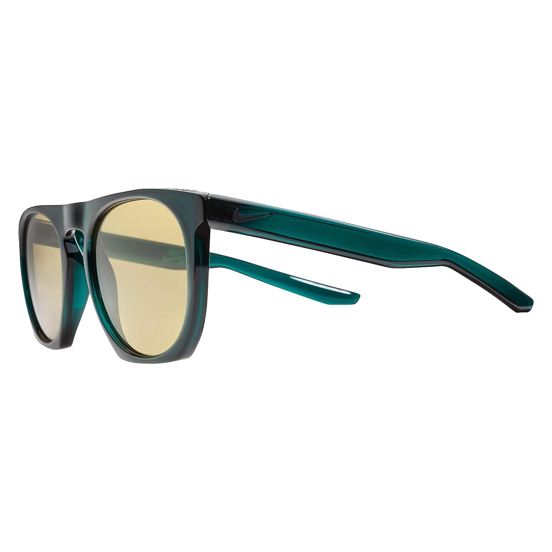 Nike Mens Flatspot Round Sunglasses Dark Atomic Teal//Black 52 mm
