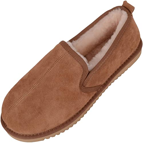 SNUGRUGSSheepskin - Hard Sole - Zapatillas de Estar por casa Hombre: Amazon.es: Zapatos y complementos