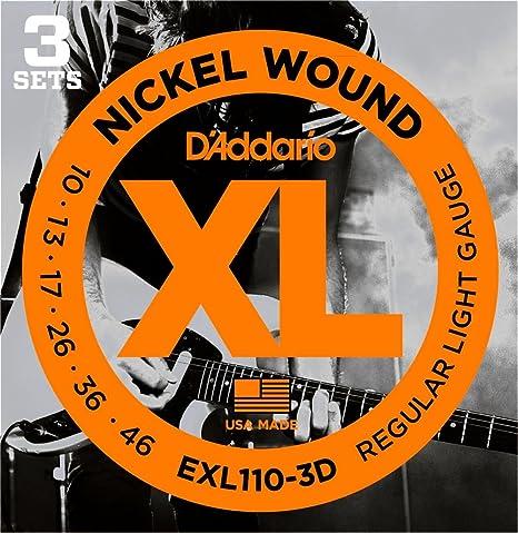 D Addario EXL de 3d EXL110 – 3d, 010 – 046 · Cuerdas guitarra