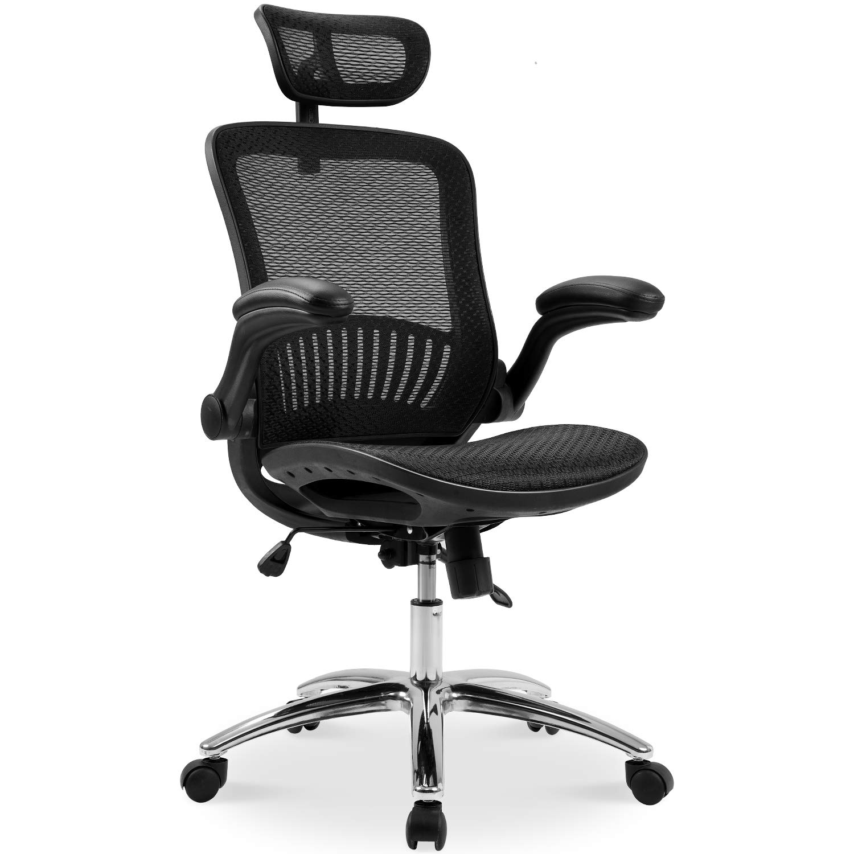 Merax Ergonomic Mesh Adjustable Home Desk Chair Office Chair Modern New Design Reclining Chair by Merax (Image #2)