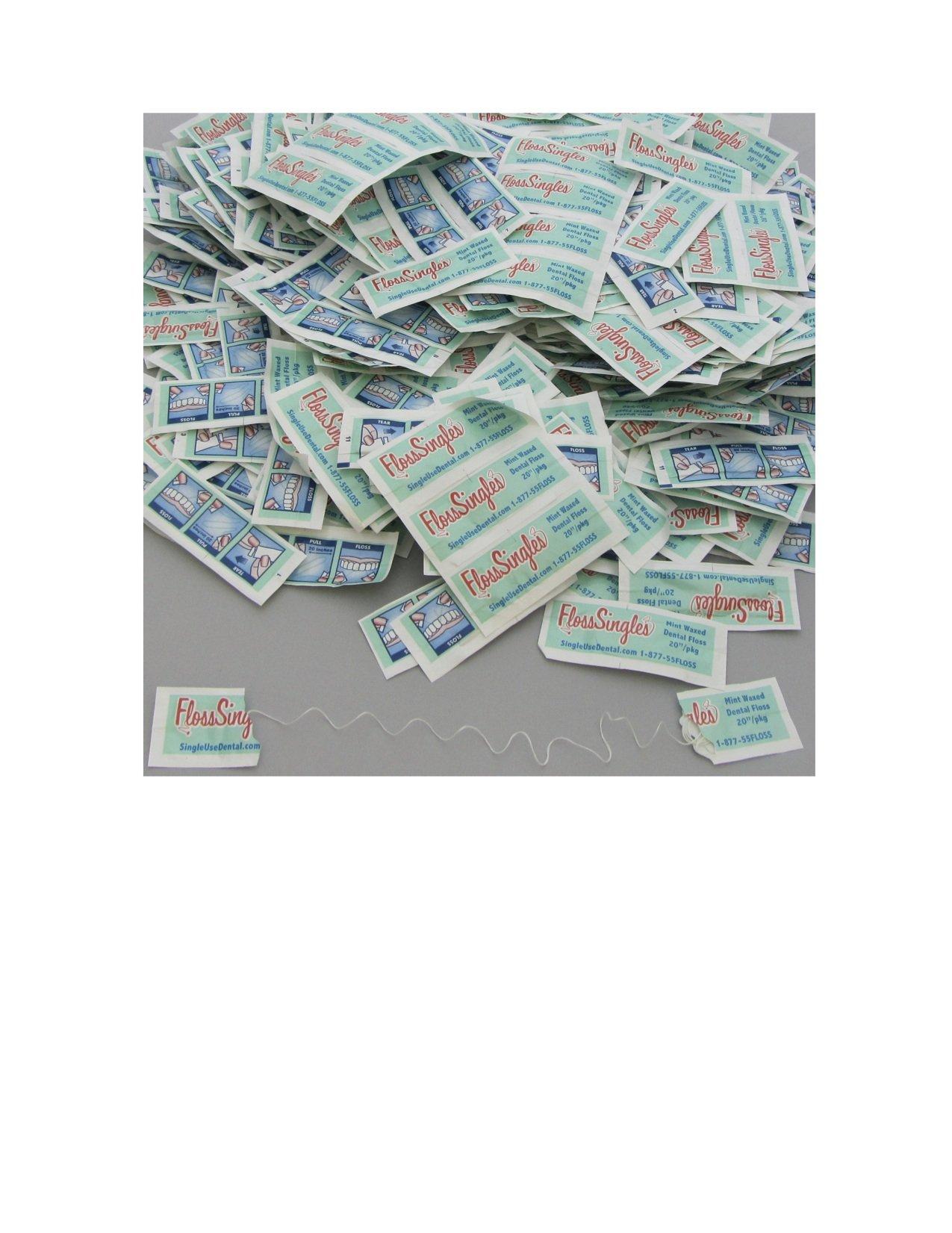 Floss Singles Bag, Light Green, Mint, 1000 Counts