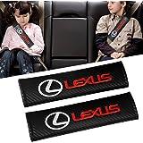 シートベルトカバー Lexus レクサスの、Qingtech カーボンファイバーカーシートベルトショルダーストラップパッド(2パック)