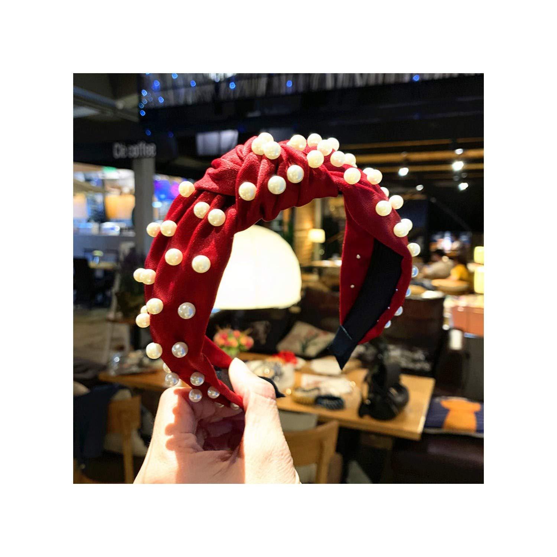 Pearl Headband Solid Coral...