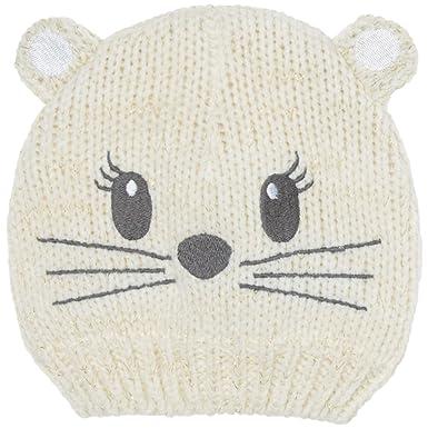 KIABI Bonnet maille tricot chat écru 45  Amazon.fr  Vêtements et ... eb55e18b4ec