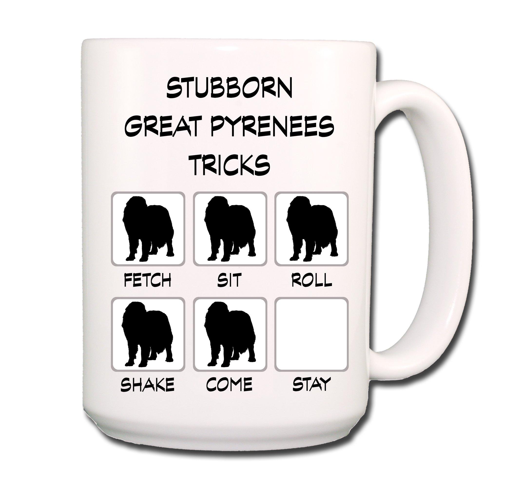 Great Pyrenees Stubborn Tricks Coffee Tea Mug 15 oz 1
