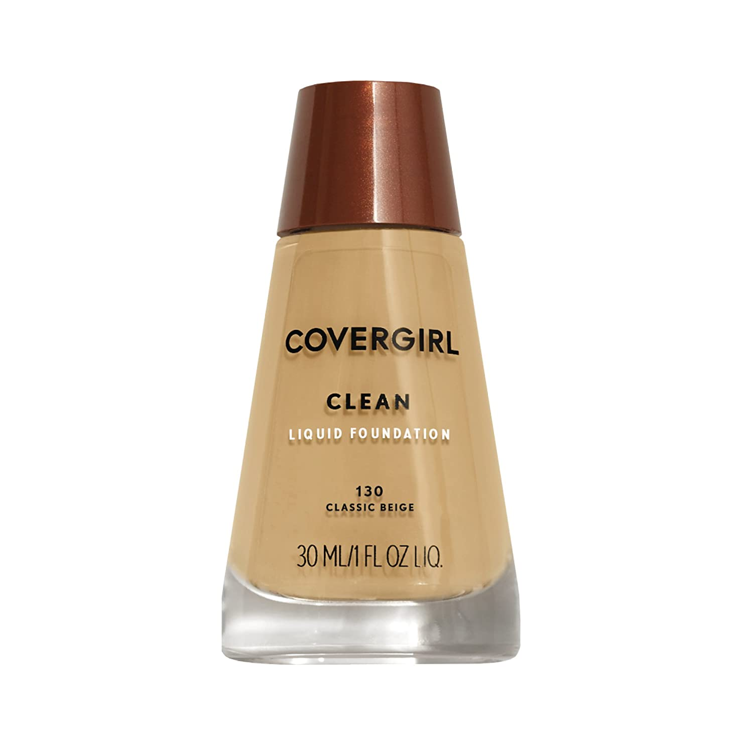 COVERGIRL Clean Makeup Foundation Classic Beige 130, 1 oz (packaging may vary)