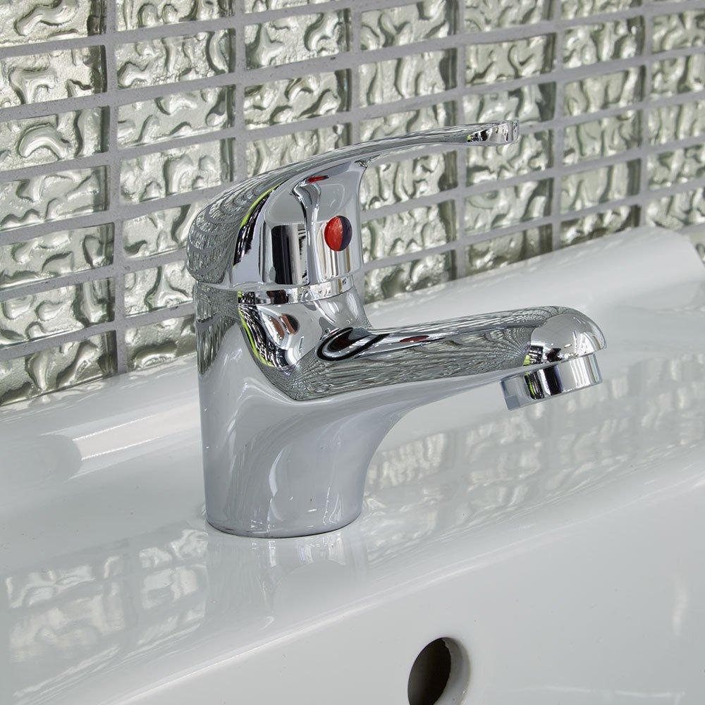Mitigeur lavabo salle de bain robinet monotrou lavage à la main lavabo Monobloc à levier moderne Laiton poli Motif évier Chromé-Facile à nettoyer, l'Installation Simple l'Installation Simple Better Bathrooms UK