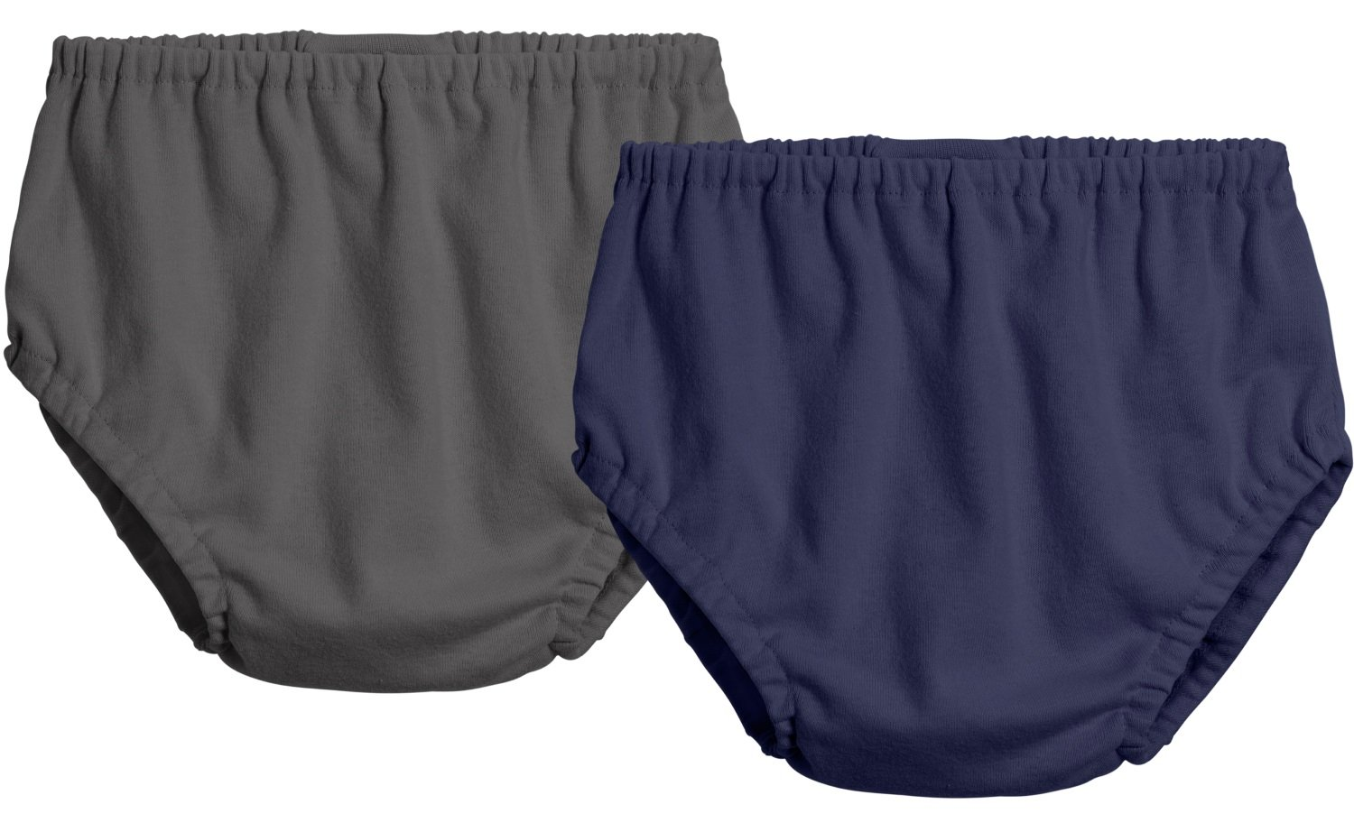 City Threads 2-Pack Baby Girls' and Baby Boys' Unisex Diaper Covers Bloomers Soft Cotton, Charcoal/Navy, 2T