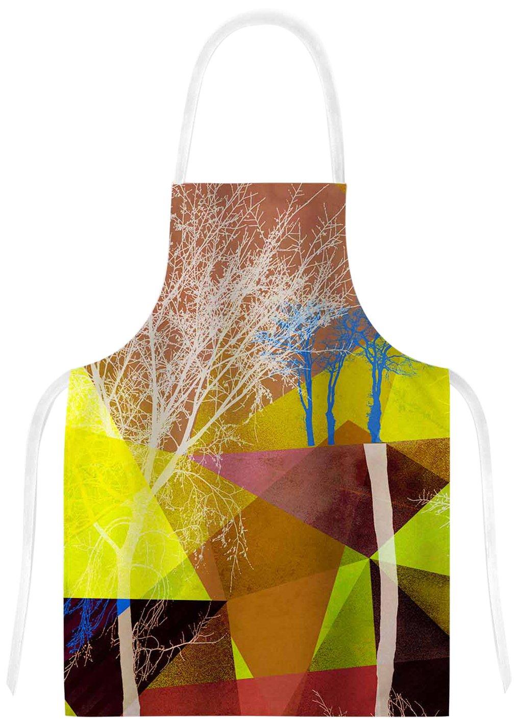 KESS InHouse PS1034AAR01 Pia SchneiderP17 Yellow Blue Artistic Apron Multicolor 31 x 36