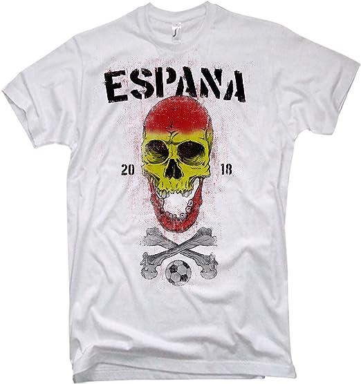 NG articlezz Camiseta de Hombre ESPAÑA Calavera Fútbol WM 2018 ...
