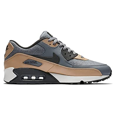 huge selection of 4f260 32b4a Nike Herren Air Max 90 Grau Leder Mesh Sneaker 46