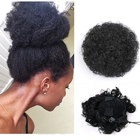 capture outlet photos officielles Extensions de cheveux bouclés synthétiques avec pinces et cordon  synthétique - Cheveux crépus courts pour queue de cheval volumineuse