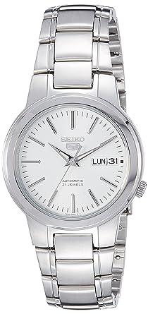 74abd4b80d6 Seiko Men s SNKA01K1 Seiko 5 Automatic White Dial Stainless Steel Watch