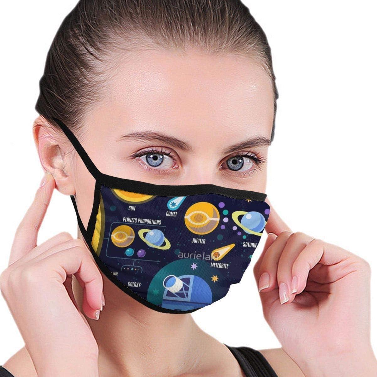 HomePink Moda Boca máscara mascarilla para niños Adolescentes Hombres Mujeres, Espacio Universo Solar Big Bang