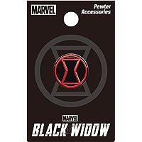 Black Widow Logo Color Pewter Lapel Pin