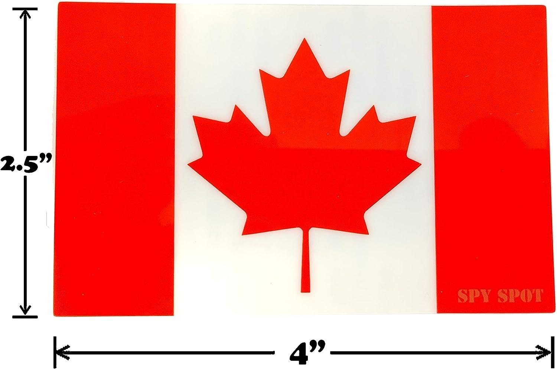 Spy Spot Set of 4 France Flag French Vinyl Stickers Weatherproof UV Resistant 4 x 2.5