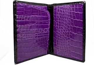 product image for Alligator Passport Wallet in Black and Purple by John Allen Woodward