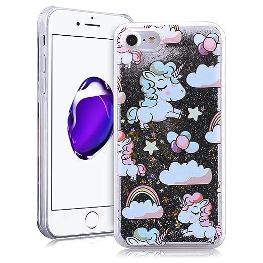 """5 opinioni per SMARTLEGEND Glitter Rigida Custodia per iPhone 7(4.7""""), Liquido Sabbie Mobili"""