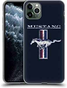 Head Case Designs Officially Licensed Ford Motor Company Classic Distressed Look Mustang Logos Soft Gel Case Compatible with Apple iPhone 11 Pro Max