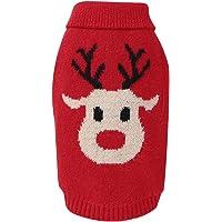 FAMKIT - Suéteres de renos para perros con dibujos animados, para invierno, abrigos de Navidad