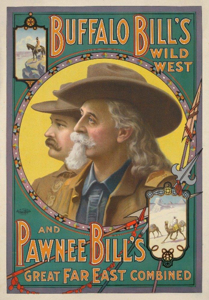 Buffalo Bill 's – Pawnee Bill 's Great Far Eastヴィンテージポスター(アーティスト:匿名) USA C。1909 36 x 54 Giclee Print LANT-72660-36x54 36 x 54 Giclee Print  B01MFBDWFN