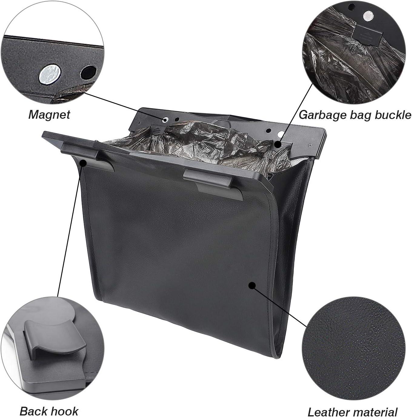 Motrobe Tesla Model 3 Trash Can Garbage Bag Hanging Magnetic Buckle Waterproof with LED Light