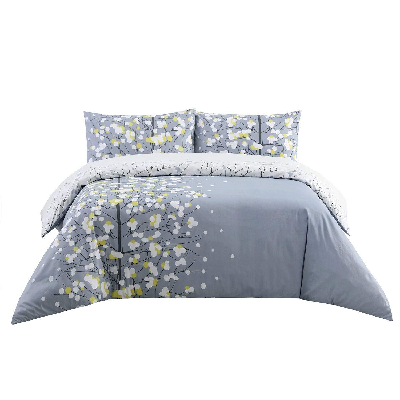 Dreamaker Printed Duvet Cover Bedding Set w/ Pillow Sham Luxury Reversible Design (Twin XL, Serenade)