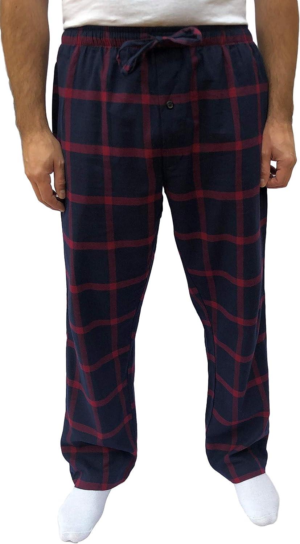 GIVEITPRO 100/% Cotton Yarn-dye Woven Flannel Pajama Pant Pajama Bottoms-1 Pair