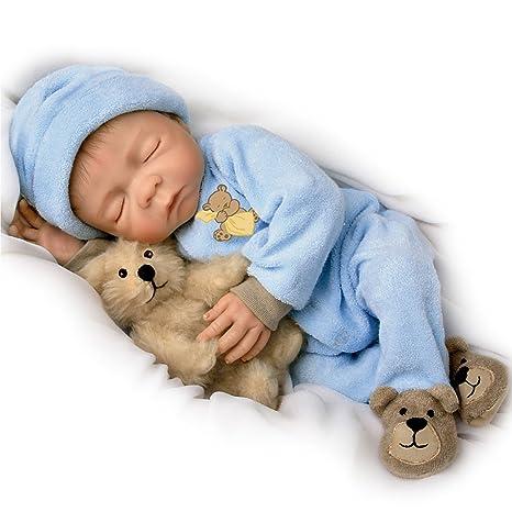 Ashton Drake - Dulces sueños, pequeño Jacob - Muñeco bebé de apariencia realista - Con