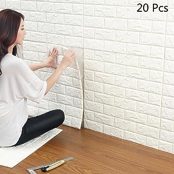 Tapete steinoptik wohnzimmer  3D Wandpaneele Selbstklebend, YTAT 3D Ziegelstein Tapete, Ziegel ...