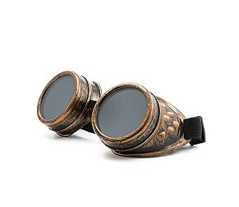Welding Cyber goggles pointes de soleil des Lunettes de Soudage Steampunk Antique Copper ANBvl
