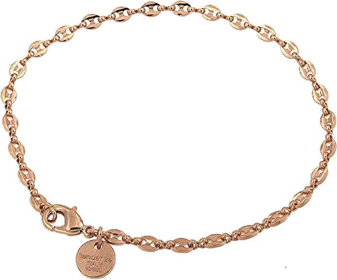 BRACCIALE MARINA oro doublé giallo o rosa o placcato oro braccialetto uomo donna