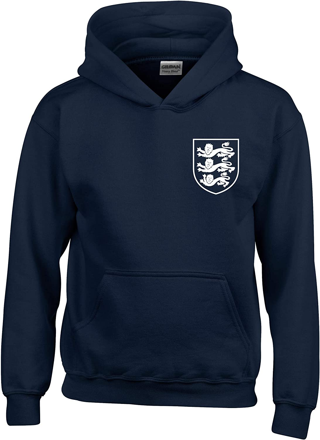 3 Lions Small Crest England Football World Cup 2018 Hoodie Kids Navy//White Age 7-8